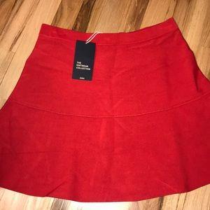 Zara red skater skirt. Size large